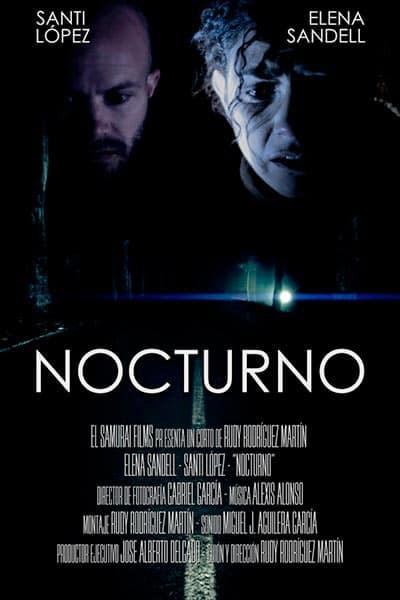 cartel cortometraje Nocturno Rudy Rodríguez