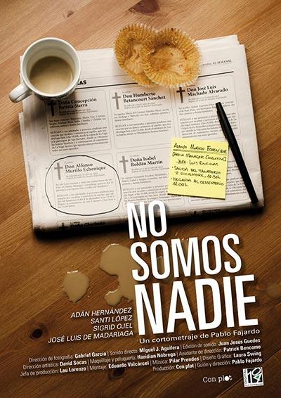 cartel cortometraje No somos nadie Pablo Fajardo