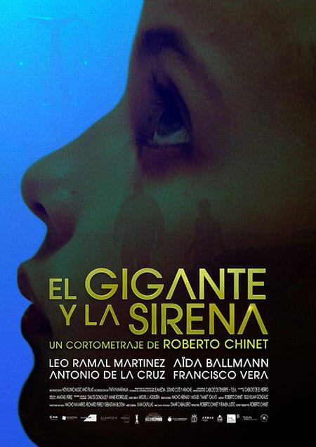 cartel cortometraje El gigante y la sirena Roberto Chinet