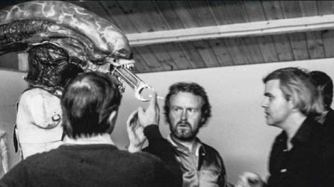 H.R. Giger Ridley Scott Alien 1979 Film behind the scenes model