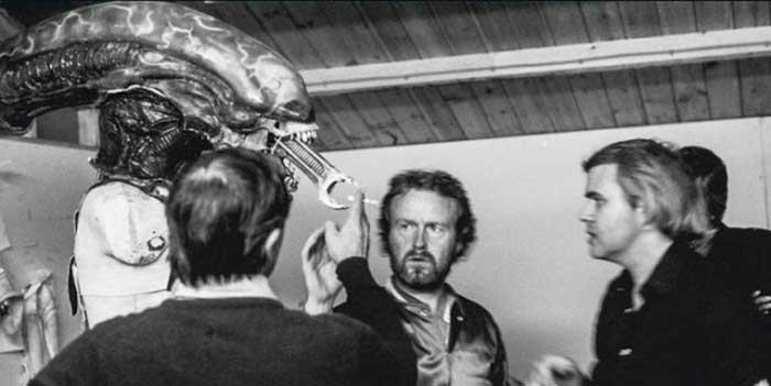 H.R. Giger Ridley Scott Alien 1979 Film behind the scenes model
