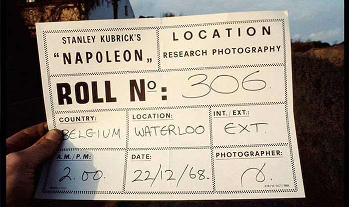 Napoleon Stanley Kubrick prueba de camara