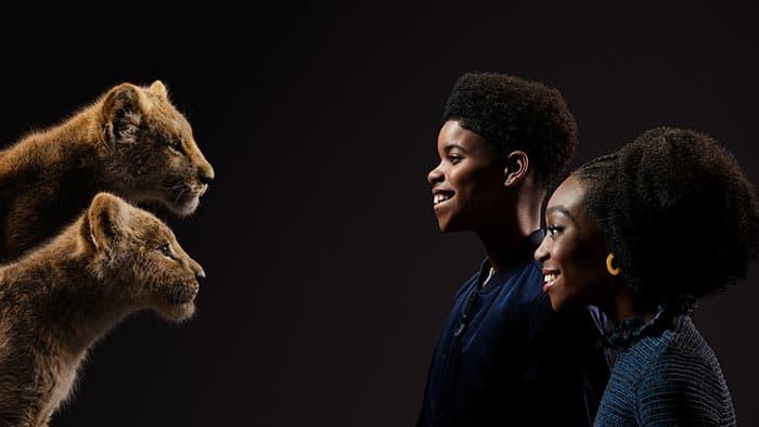 Shahadi Wright Joseph JD McCrary joven Nala joven Simba el rey leon