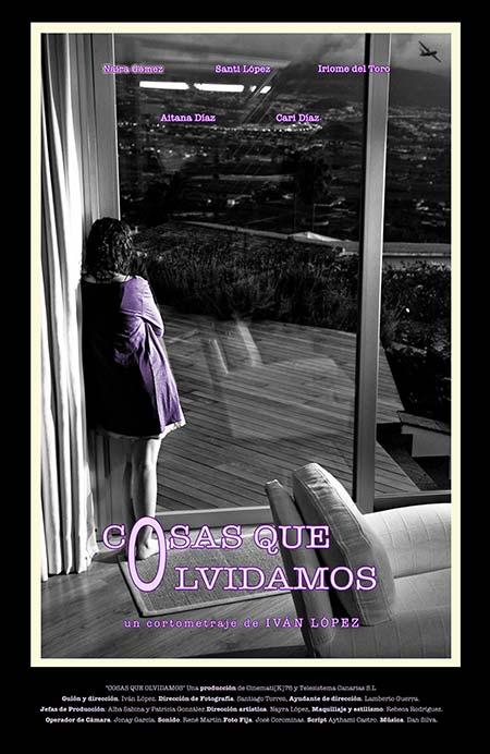 cartel cortometraje Cosas que olvidamos Iván López