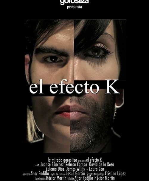 Cartel cortometraje El Efecto K de Eduardo Gorostiza