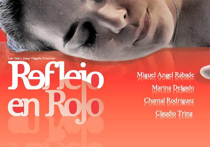 cartel cortometraje Reflejo en rojo