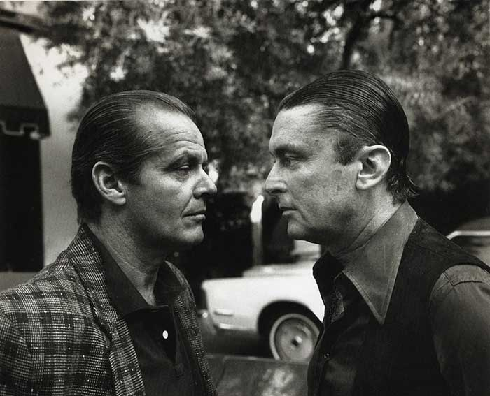 Jack Nicholson Robert Evans por Helmut Newton